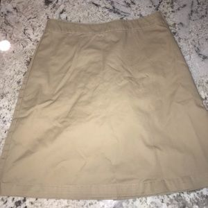 Lands' End khaki uniform skirt